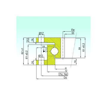 53307U+U307 ISO Eksenel Bilyalı Rulmanlar