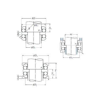 54224U+U224 CX Eksenel Bilyalı Rulmanlar